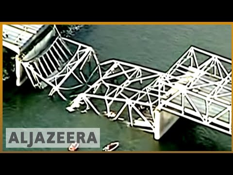 US - Read more details on this story here: http://aje.me/14ZQCxI A bridge connecting Canada and the United States has collapsed in the US state of Washington send...