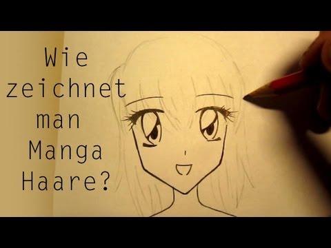 Wie zeichnet man Manga Haare