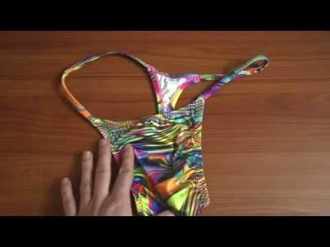 Skinzwear T Back in Neon Dali Review (видео)
