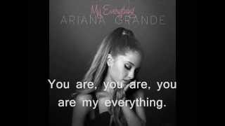 Ariana Grande - My Everything (OFFICIAL AUDIO) with lyrics on screen