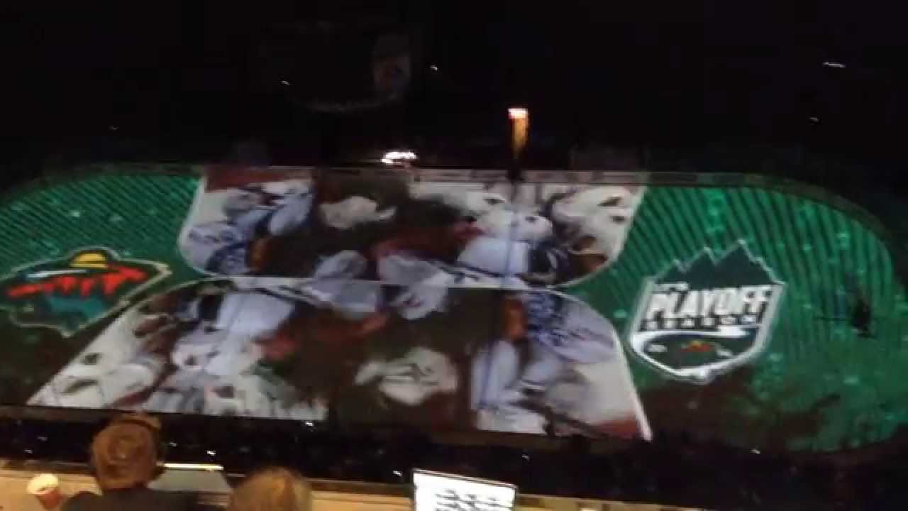 MN Wild Debut New On-Ice Projection During Pre-Game