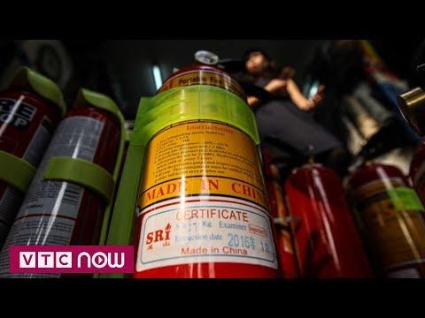 Không nên dùng bình chữa cháy Trung Quốc | VTC1 - Thời lượng: 56 giây.