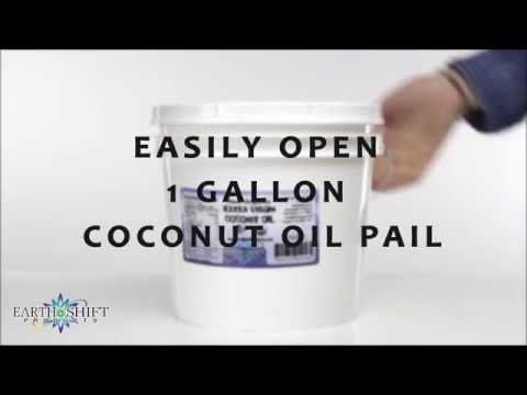 Easily Open 1 Gallon Coconut Oil Pail