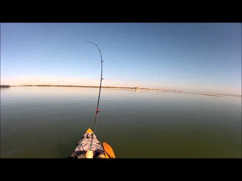 Winter time Kayak Fishing St. Charles Bay near Rockport, Texas
