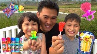 Berburu Mainan dan Permen Lollipop Unik - Chupa Chups Push Pop +  Main Bubble Gloves