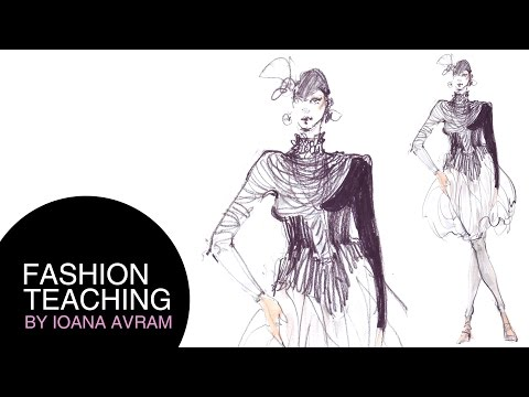 sketches - More about how to learn fashion illustration: http://www.fashion-teaching.com/