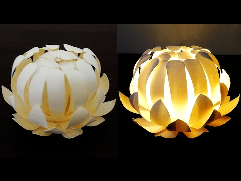 Paper cup flower lamp - how to make a protea lantern from paper cups - EzyCraft