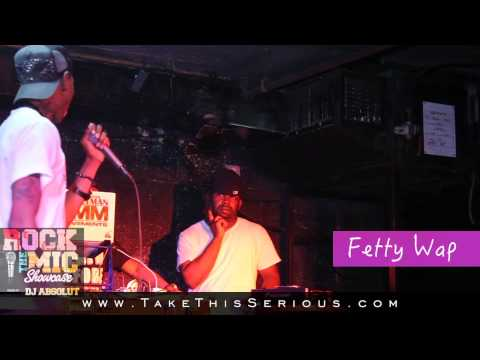 """Fetty Wap Perfoms  """"Trap Queen"""" at the Rock The Mic Showcase For The First Time Ever!!!"""