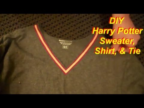 Easy No-Sew Harry Potter Costume Part 1: Sweater, Shirt, & Tie