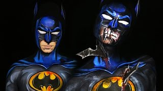 Zombie Batman & Comic Book Batman Makeup Tutorial by Madeyewlook