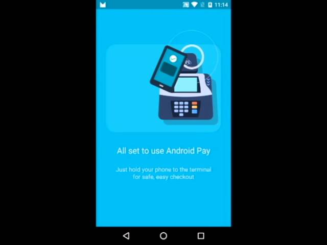 Android Pay Warm Welcome