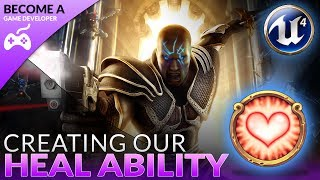 In today's video we take a look at how we can setup our player's healing ability, going over step by step how we can do all the blueprint conditioning to see if the player has enough mana then heal and spawn the particle effect if they do.We also go over the process of stopping the character moving whilst they use their player ability.Unreal Engine 4 Beginner Tutorial Series:https://www.youtube.com/playlist?list=PLL0cLF8gjBpqDdMoeid6Vl5roMl6xJQGCBlueprints Creations Serieshttps://www.youtube.com/playlist?list=PLL0cLF8gjBpoojQ7YqsSsxycBe5S3ikkVResources: http://virtushub.co.uk/resources.html► Next VideoIn the next video we'll continue to bring our role playing game to life.♥ Subscribe for new episodes weekly! http://bit.ly/1RWCVIN♥ Don't forget you can help support the channel on Patreon! https://www.patreon.com/VirtusEduVirtus Learning Hub // Media● Facebook Page - https://www.facebook.com/VirtusEducation●Twitter Page - http://www.twitter.com/virtusedu● Website - http://www.virtushub.co.uk