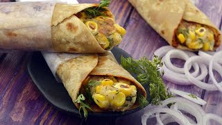 Potato and Corn Rolls recipe by Tarla Dalal