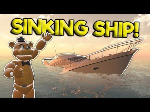 Garrys Mod - TSUNAMI SINKING SHIP SURVIVAL?! - Garry's Mod Roleplay Gameplay - Gmod Multiplayer Survival