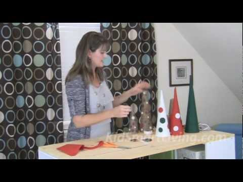 Make Kid-Friendly Christmas Decorations – Tabletop Trees for Tables, Mantles & Centerpieces