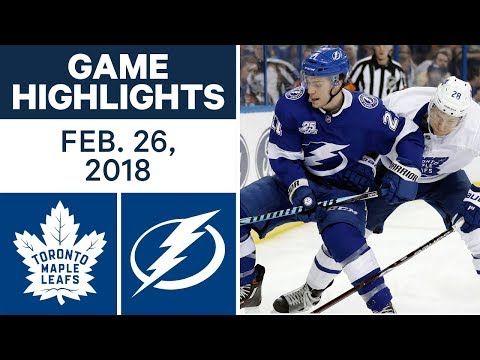 Video: NHL Game Highlights | Maple Leafs vs. Lightning - Feb. 26, 2018