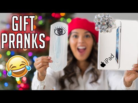 10 GIFT PRANKS! Funny ways to Prank your Friends & Family! Natalies Outlet (видео)