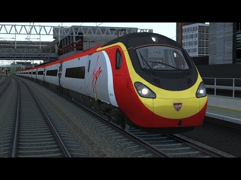 Train Simulator 2018 | New Class 390 Virgin Trains Pendolino High Speed Train | WCML Trent Valley HD