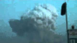 2011年3月11日、千葉県市原市コスモ石油爆発のキノコ雲?