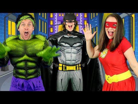 Alphabet Superheroes - ABC Superhero Song for Kids   Batman, Spiderman, PJ Masks, Incredibles, Hulk - Thời lượng: 3 phút, 49 giây.