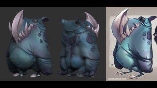 Zbrush Timelapse - Cartoon Creaturebox