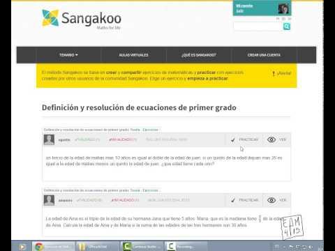 Aprender matemáticas con SANGAKOO.