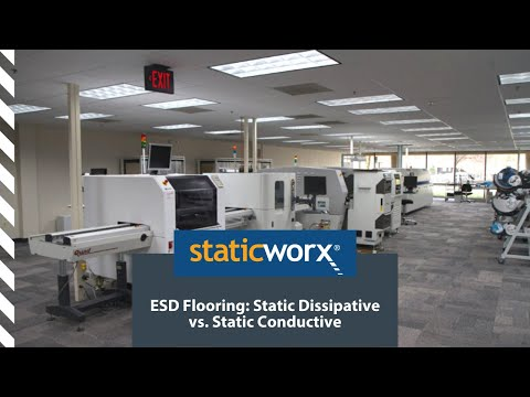 ESD Flooring: Static Dissipative vs. Static Conductive