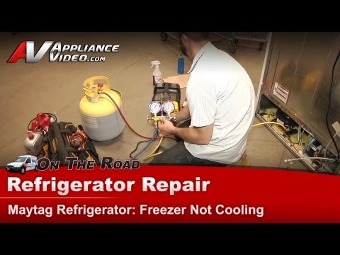 Maytag Refrigerator Repair – Freezer Not Cooling – MSF25D2EAW00