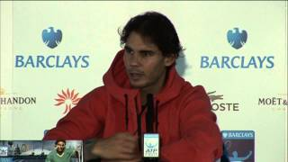 Tennis Highlights, Video - Rafael Nadal Talks About Why He Lost To Novak Djokovic In London