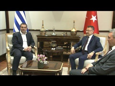Συνάντηση του Αλέξη Τσίπρα με τον Αντιπρόεδρο της Τουρκικής Δημοκρατίας, Fuat Oktay