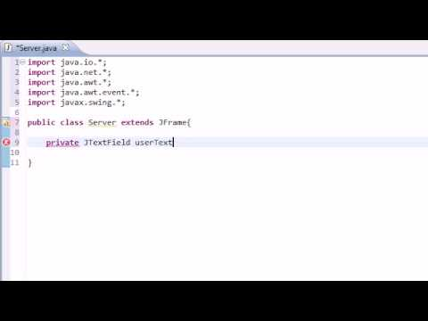 Intermediate Java Tutorial – 38 – Awesome Instant Messaging Program with Streams and Sockets