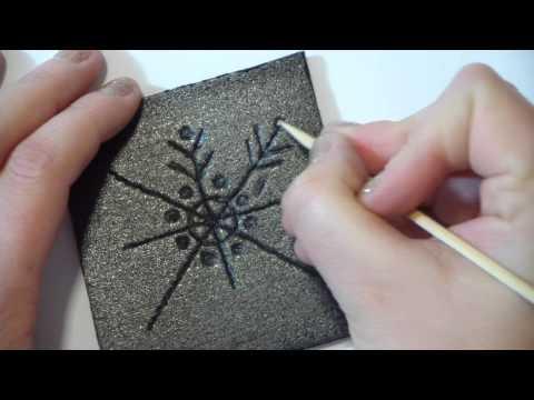 tutorial decorazioni natalizie fai da te: stampini di polistirolo