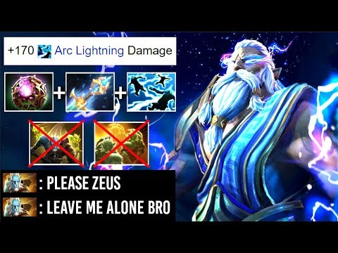EPIC Zeus Counter Phantom Cancer Ez with 25 lvl Talent Octarine Core Kaya Build by Topson WTF Dota 2