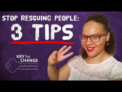 Stop rescuing people
