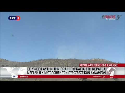 Video - Μεγάλη πυρκαγιά στην Κερατέα