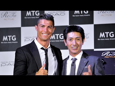 Conference - MTG, a health and wellness company based in Nagoya, invited Portuguese soccer player Cristiano Ronaldo to unveil its
