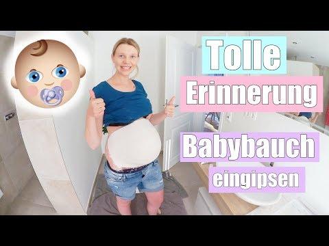 Wir machen den Babybauch Gipsabdruck 😍   Familien Vlog   36 SSW   Isabeau