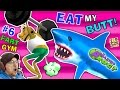 EAT MY BUTT SHARK! AMAZING FROG FART GYM n Inflatable Bouncy Castle Sky Fun (FGTEEV Part 6 Gameplay)