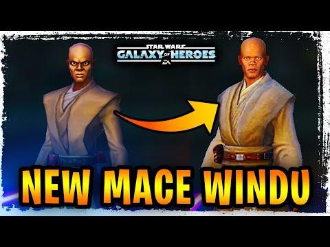 New Mace Windu, Qui-Gon Jinn, and Aayla Secura Reskinned Artwork! - Mace Windu Rework? - SWGoH