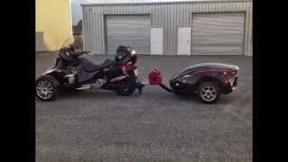 9. 2013 CAN AM SPYDER RT LIMITED & RT-622 TRAILER.