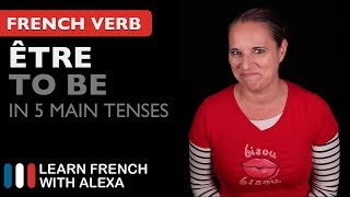Alexa teaches you how to conjugate Être (to be) in 5 main French tenses. SUPPORT GUIDE and EXCLUSIVE VIDS at ► https://learnfrenchwithalexa.com. Test your French level with our partner KWIZIQ ► http://learnfren.ch/testyourlevel ----------------------------------------------SUPPORT MY VIDEOS My Patreon page ► https://patreon.com/french----------------------------------------------RECOMMENDED PLAYLISTSCommon French Verbs  ► http://learnfren.ch/verbsLFWA----------------------------------------------MY LIVE LESSONSJoin my live lessons ► http://learnfren.ch/live-lessons----------------------------------------------MY LINKSMy Blog ► https://learnfrenchwithalexa.com/blogFacebook ► http://learnfren.ch/faceLFWATwitter ► http://learnfren.ch/twitLFWALinkedIn ► http://learnfren.ch/linkedinLFWANewsletter ► http://learnfren.ch/newsletterLFWAGoogle+ ► http://learnfren.ch/plusLFWAMy Soundcloud ► https://soundcloud.com/learnfrenchwithalexaT-Shirts ► http://learnfren.ch/tshirtsLFWA----------------------------------------------MORE ABOUT LEARN FRENCH WITH ALEXA'S 'HOW TO SPEAK' FRENCH VIDEO LESSONSAlexa Polidoro a real French teacher with many years' experience of teaching French to adults and children at all levels. People from all over the world enjoy learning how to speak French with Alexa's popular online video and audio French lessons. They're fun, friendly and stress-free! It's like she's actually sitting there with you, helping you along... Your very own personal French tutor.Please Like, Share and Subscribe if you enjoyed this video. Merci et Bisou Bisou xx----------------------------------------------Ready to take your French to the next level? Visit ► https://learnfrenchwithalexa.com to try out Alexa's popular French courses.