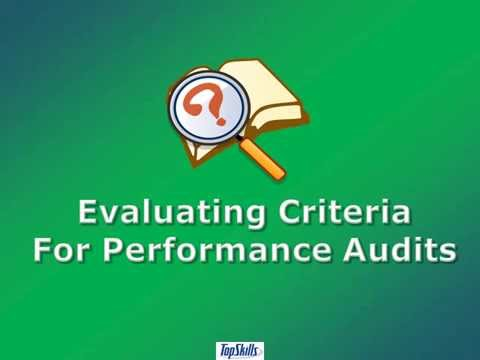 Evaluating Criteria for Performance Audits