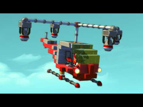 BUILD A HELICOPTER CHALLENGE!? (Scrap Mechanic)