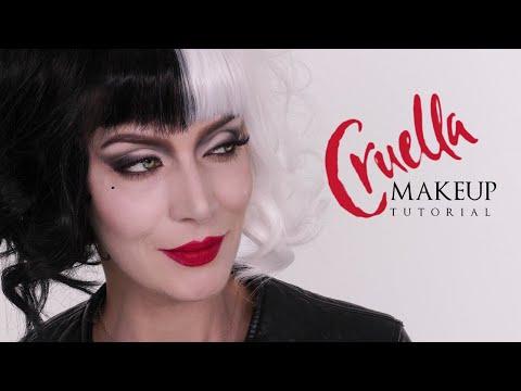 Cruella Halloween Makeup Tutorial