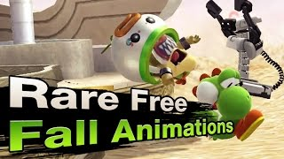 Rare Free Fall Animations in Sm4sh