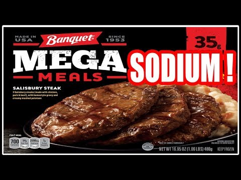Banquet MEGA SODIUM Salisbury Steak Meal - WHAT ARE WE EATING?? -The Wolfe Pit
