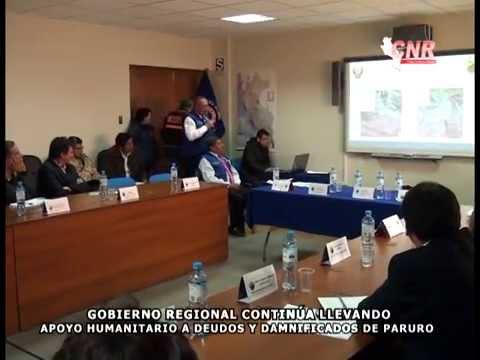 GOBIERNO REGIONAL CONTIN�A LLEVANDO APOYO HUMANITARIO A DEUDOS  Y DAMNIFICADOS