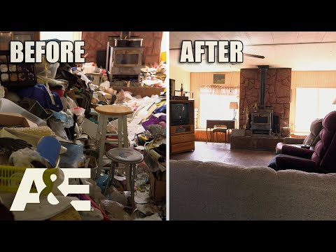 """Hoarders: 32,000 POUNDS Of Trash Fill Hoarding Couple's """"Paradise""""   A&E"""
