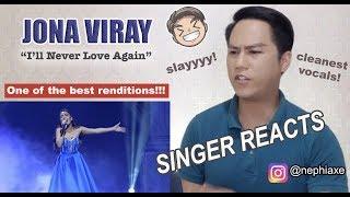 Video JONA - I'll Never Love Again (LIVE) || The Aces Live in Cebu [SINGER REACTS] MP3, 3GP, MP4, WEBM, AVI, FLV Maret 2019