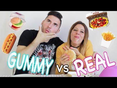 CIBO GOMMOSO vs CIBO REALE - GUMMY FOOD vs REAL FOOD CHALLENGE